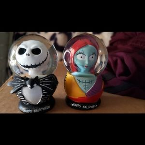 Jack and Sally mini snow globes